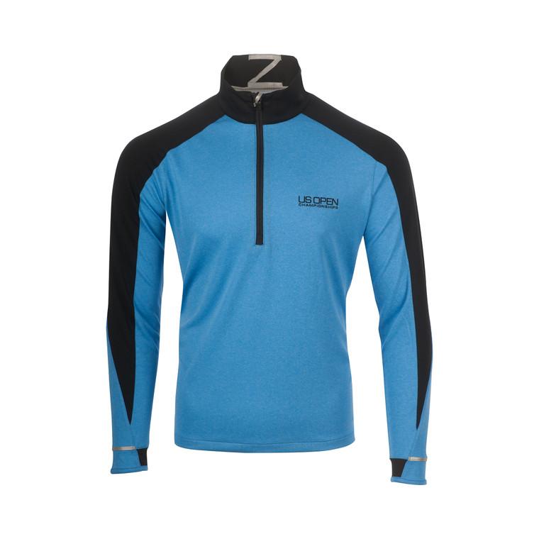 Men's 1/4 Zip Pullover - Heathered Blue