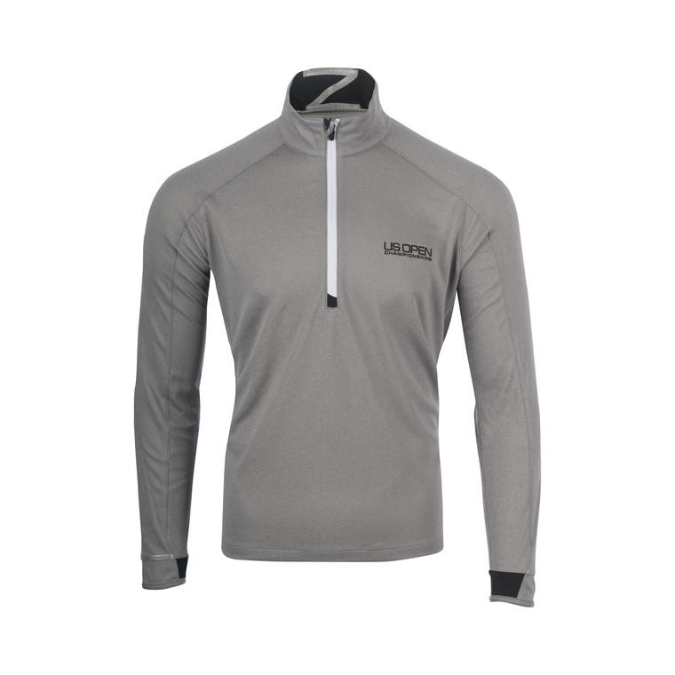 Men's 1/4 Zip Pullover - Heathered Grey
