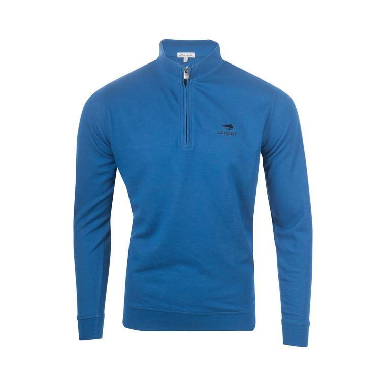 Men's Interlock 1/4 Zip Pullover - Blue