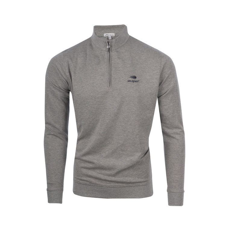 Men's Interlock 1/4 Zip Pullover - Grey