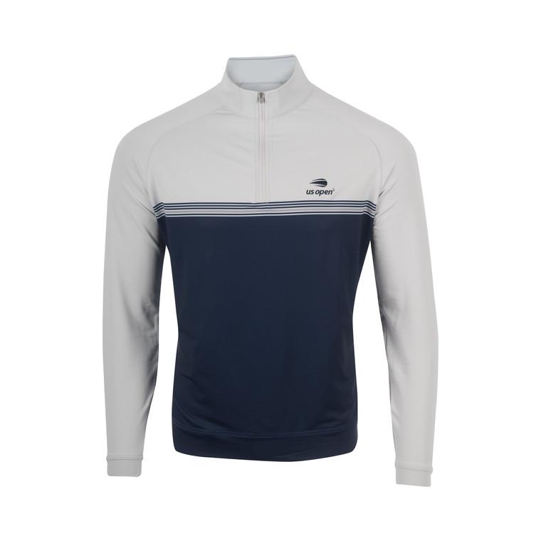 Men's Perth Engineered Stripe 1/4 Zip Pullover