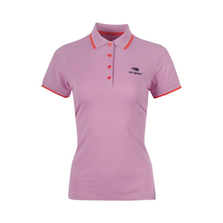 Women's Blair Sport Mesh Polo Shirt - Lotus Flower