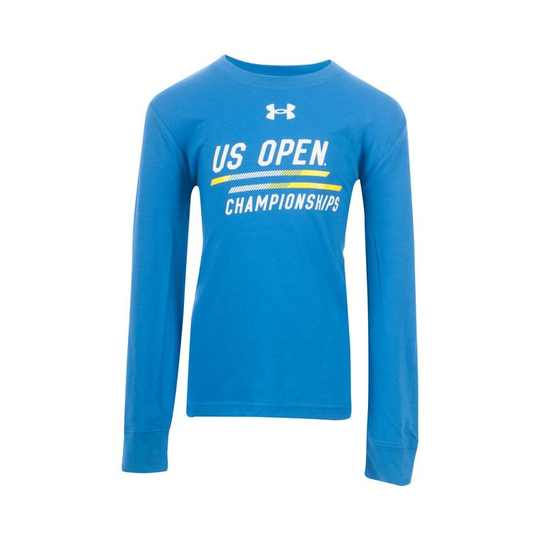 Youth Performance Long Sleeve Tech T-Shirt - Royal Blue