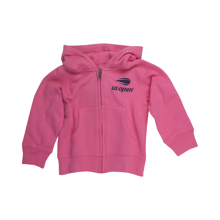 Toddler Girls Full Zip Hoodie - Pink