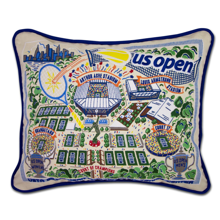 Exclusive Art  Embroidered Throw Pillow