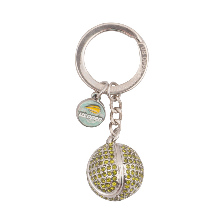 Bling Tennis Ball Keychain - Yellow