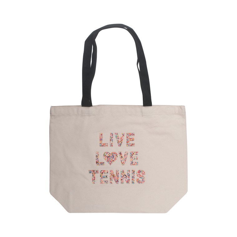Live, Love, Tennis Canvas Tote