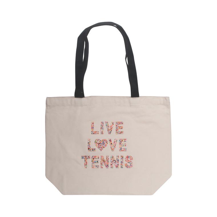Live, Love, Tennis Canvas Tote