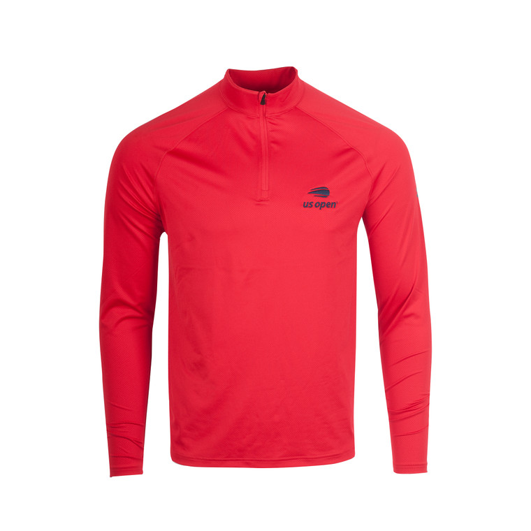 Men's Performance 1/4 Zip Pullover - Red