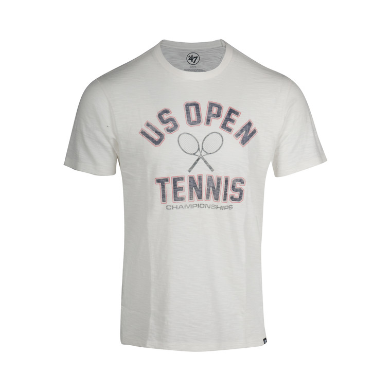 Men's  Scrum Cross Racquets T-Shirt  - White