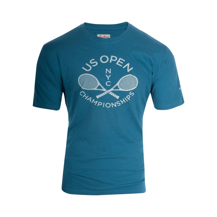 Men's Cross Racquet T-shirt - Blue