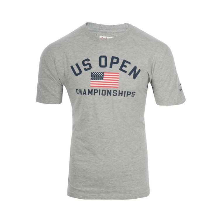 Men's Championship US Flag T-shirt - Grey