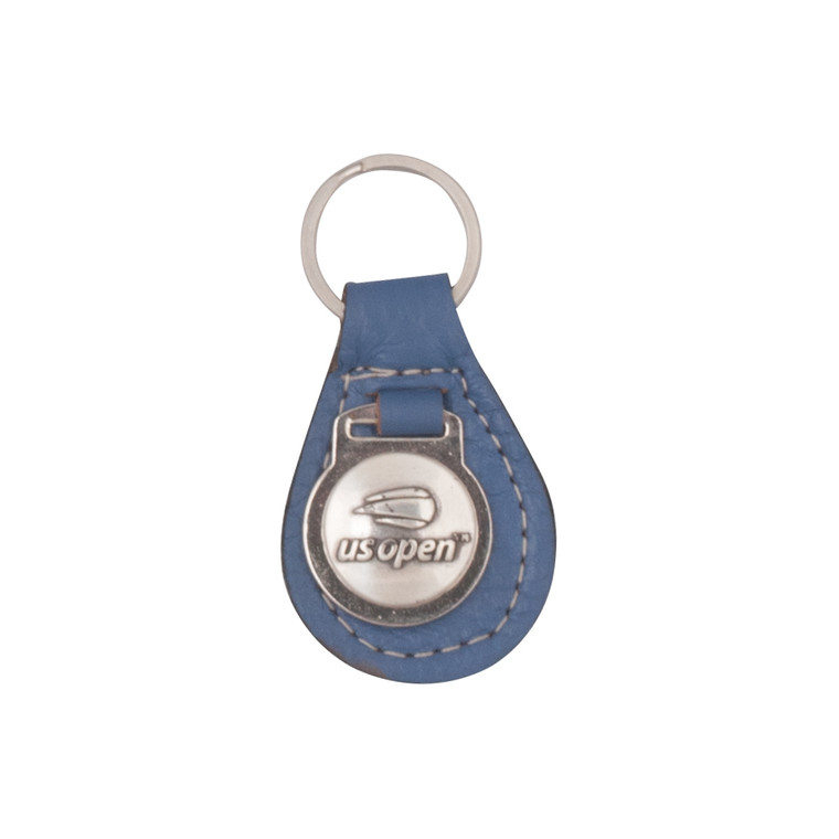 Leather FOB Key Ring - Blue