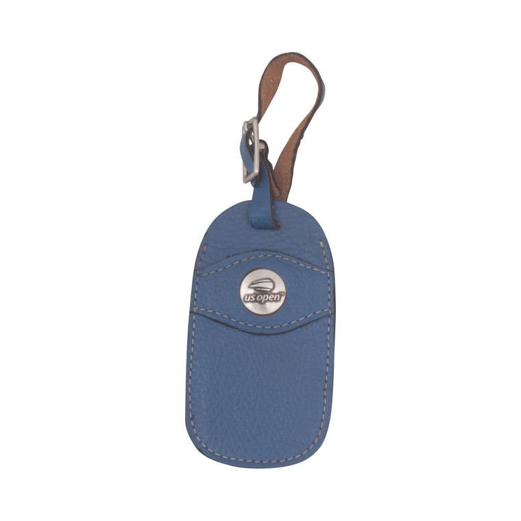 Leather Luggage Tag - Blue