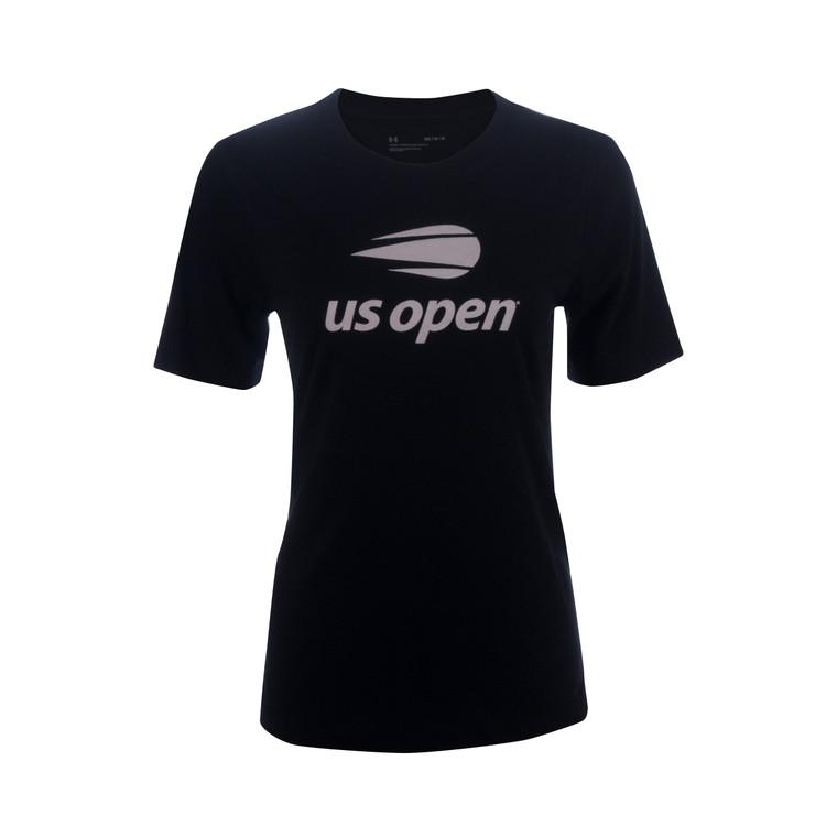 Women's Under Armour Performance Cotton V-Neck T-Shirt -  Black