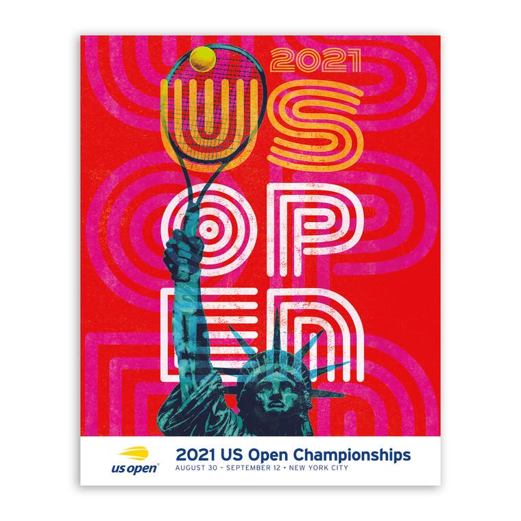 US Open 2021 Theme Art Poster