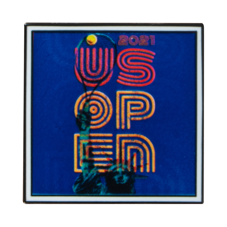 US Open 2021 Theme Art Pin - Blue