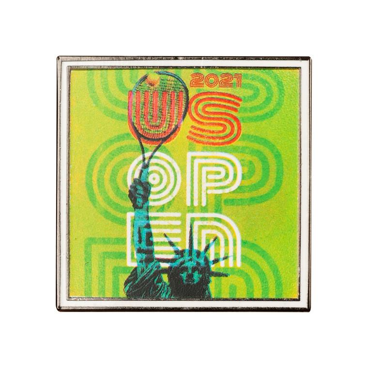 US Open 2021 Theme Art Pin - Green