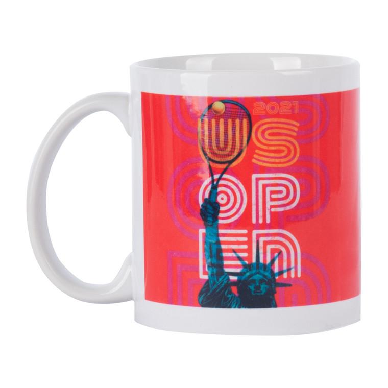 US Open 2021 Theme Art Coffee Mug - Red