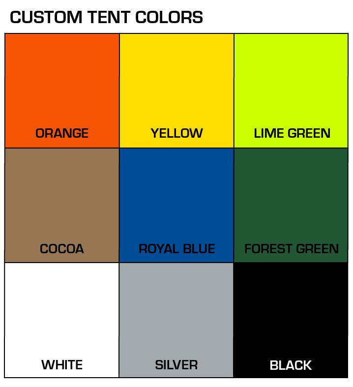 Tent Custom Colors