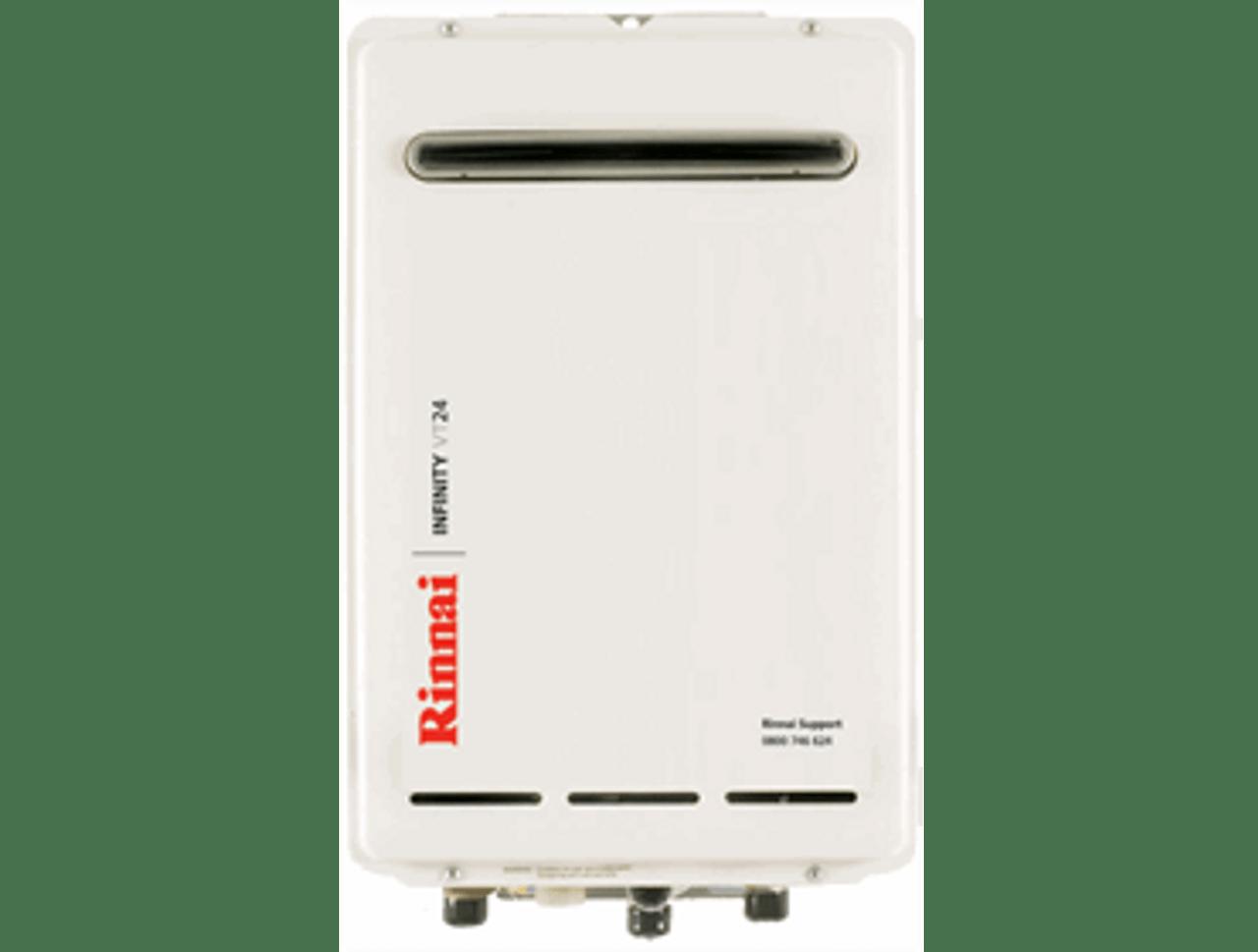 Rinnai Infinity VT24 External Gas Water Heater (LPG)
