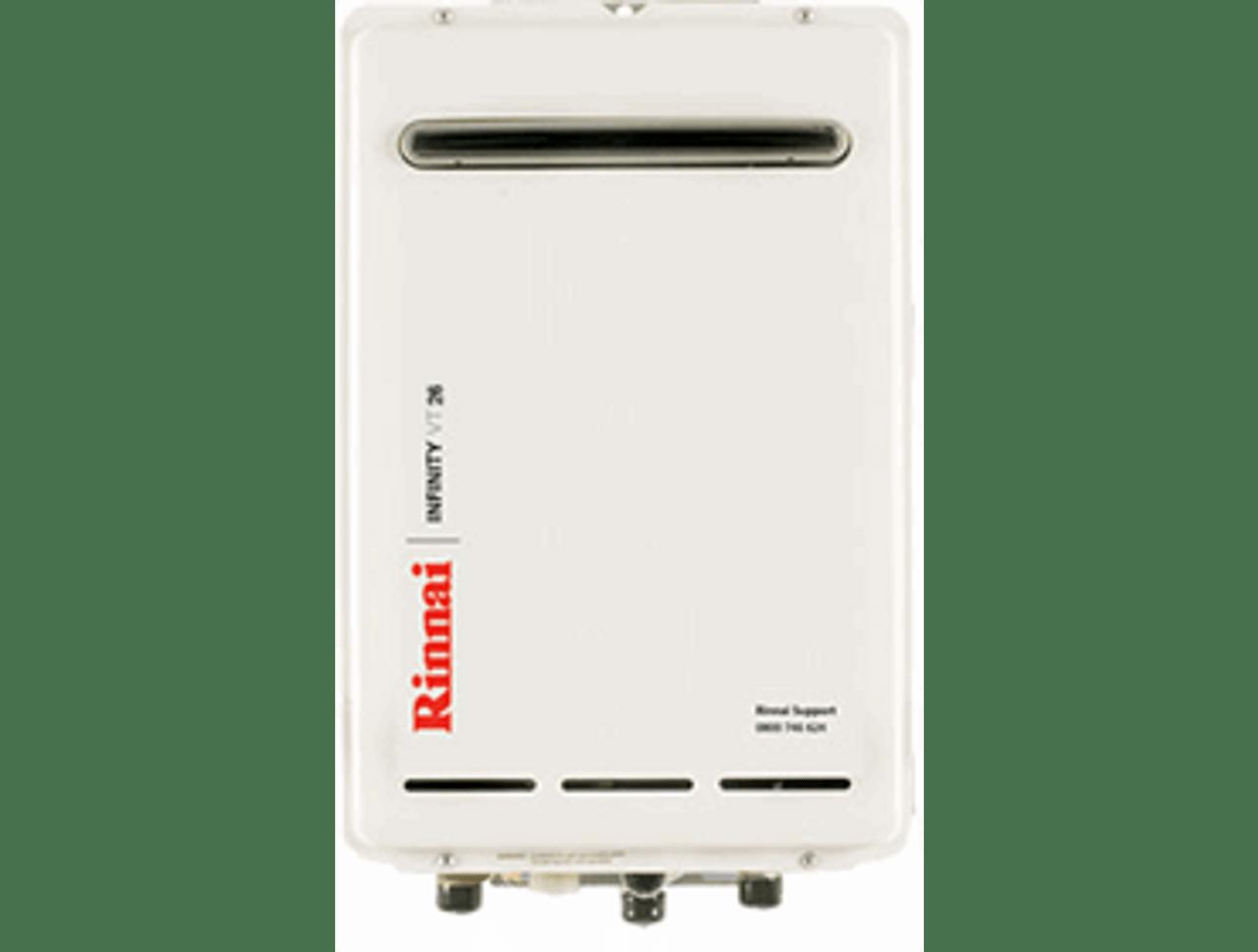 Rinnai Infinity VT26 External Gas Water Heater (LPG)