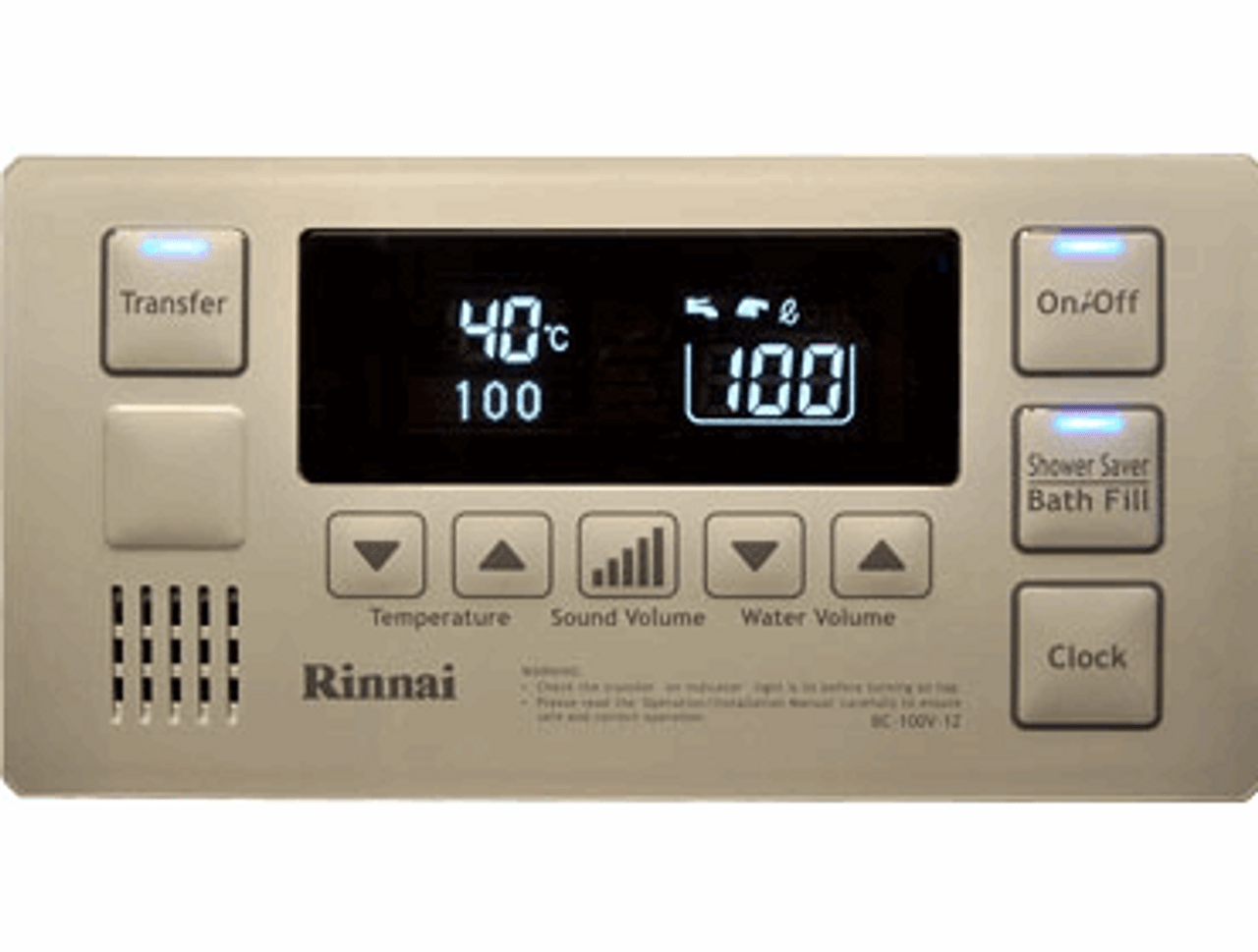 Rinnai Infinity Bathroom Deluxe Controller