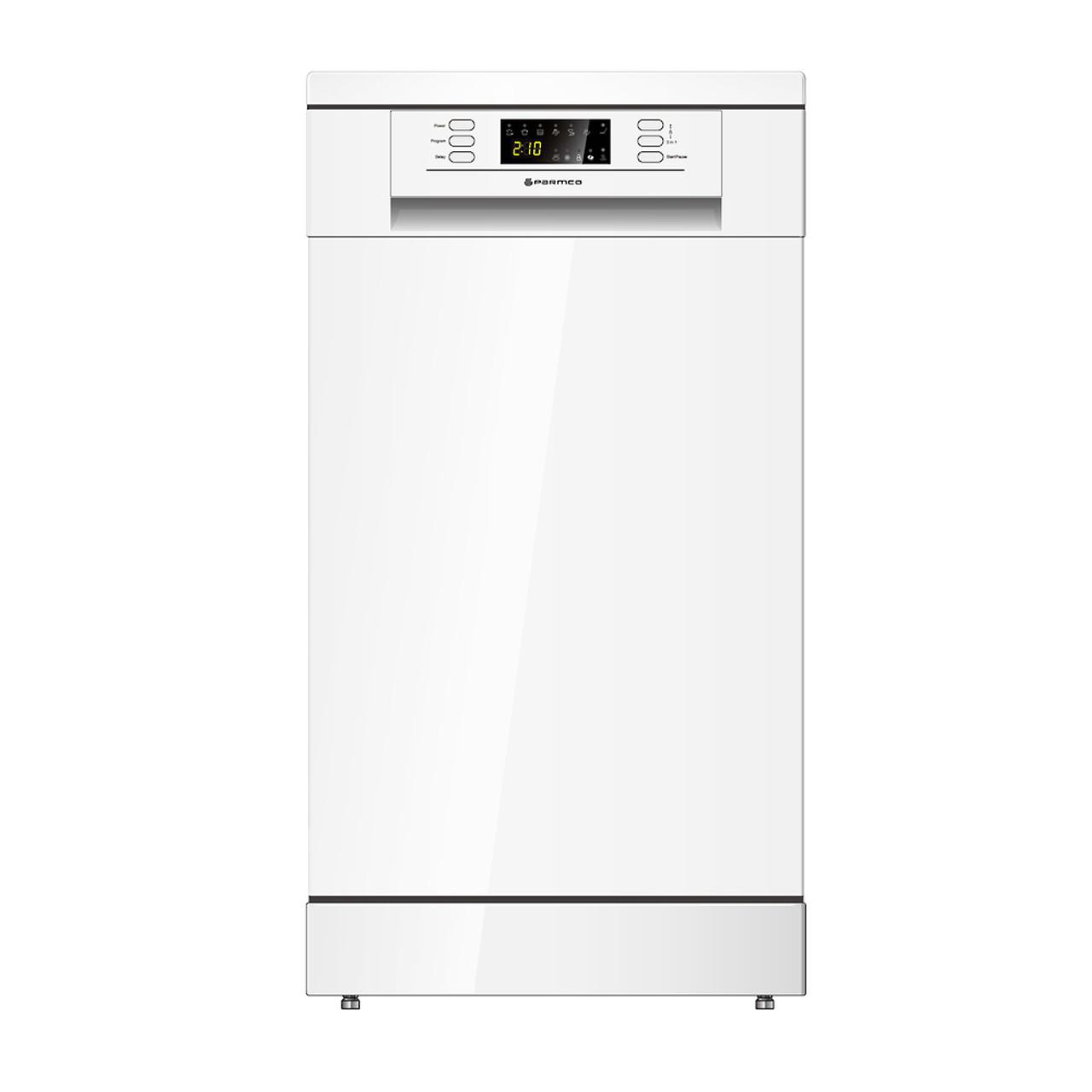 PARMCO 450mm Freestanding Dishwasher, Slim, Economy, White