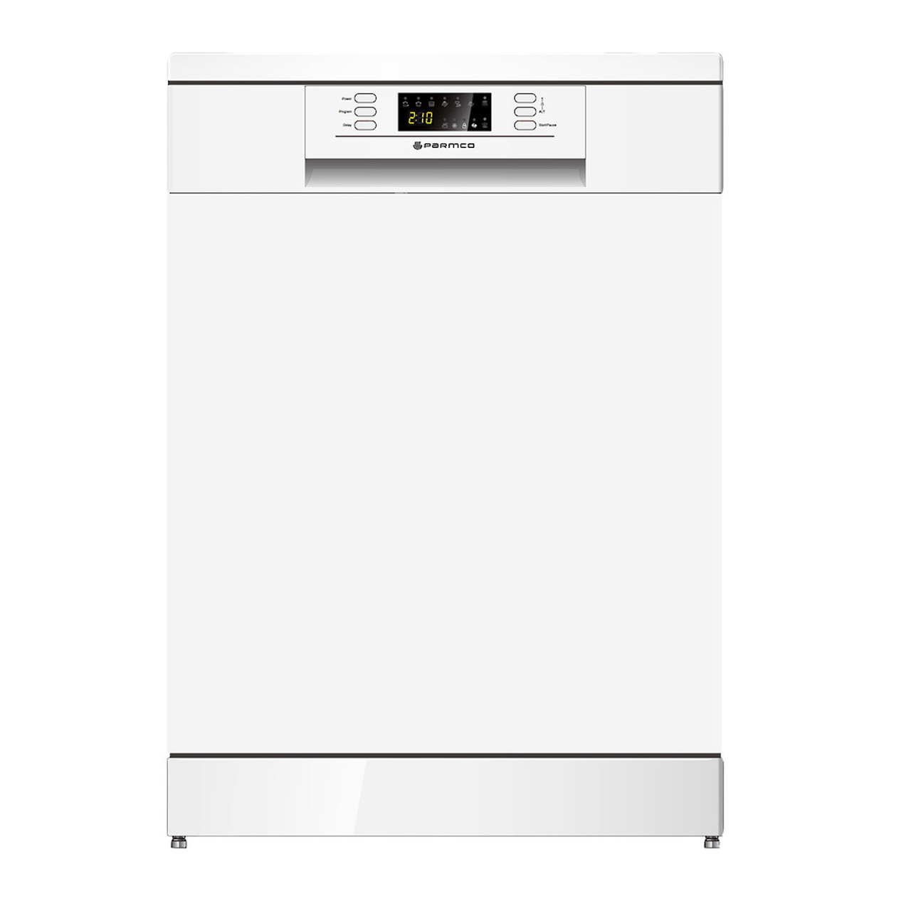 PARMCO 600mm Freestanding Dishwasher, LED Display, White