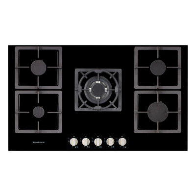 Parmco 900mm Gas Hob with Black Glass