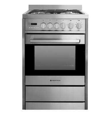 PARMCO 600mm, 70 Litre Combination Freestanding Stove, Stainless Steel