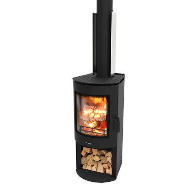 Akaroa WS - Freestanding Radiant Wood Burner With Wood Stacker