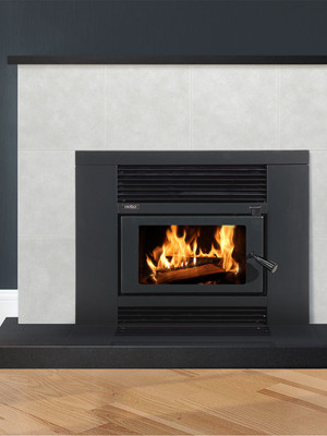 Metro LTD Smart Insert Firebox / Fascia HT Metallic Blk Combo