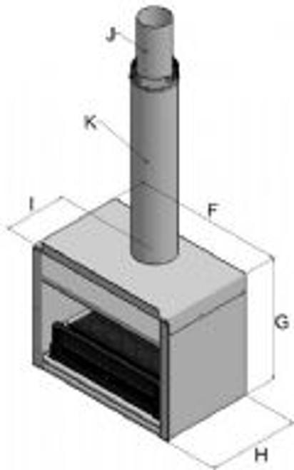 Warmington Gas Outdoor with Insulation Kit (Single Flue) fire