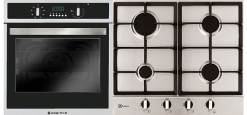Parmco Verso 4 Pack 600mm Oven (8 Functions) and Gas Cooktop
