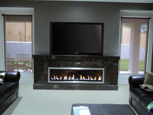 Real Flame Landscape Gas Fire 1600