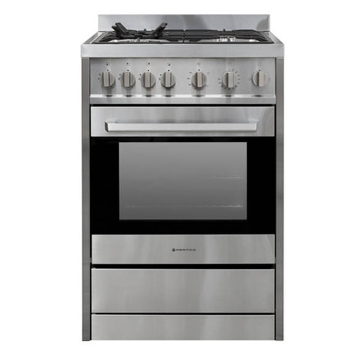 PARMCO 600mm 70 Litre Freestanding Stove, Full Gas, Stainless Steel