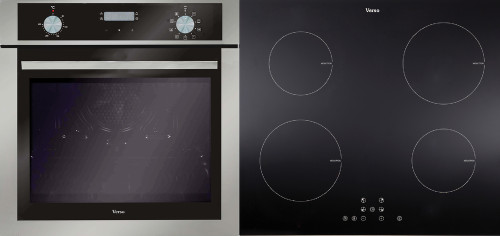 Verso 1-1 Pack 600mm Oven, 9 Function, Stainless Steel and 600mm Induction Cooktop