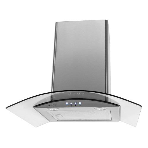 PARMCO 600mm Canopy, Curved Glass, LED