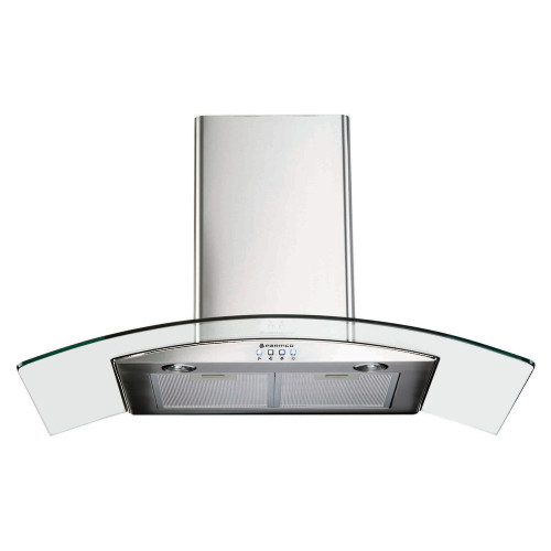 PARMCO 900mm Canopy, Curved Glass, LED