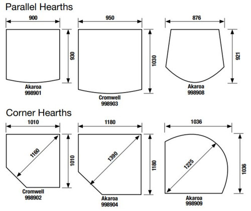 Masport hearth sizes