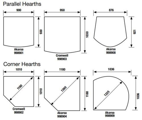 Masport hearth sizes
