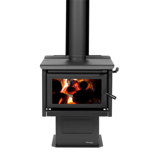 Waimakariri Freestanding ultra-low emissions wood fire front