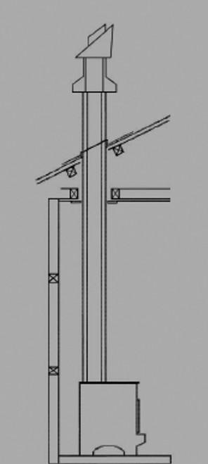 Ethos 4.2m EconAir Freestanding Flue Kit