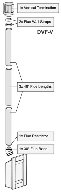 Escea ST900 Standard Vertical Flue Kit 3.6m long