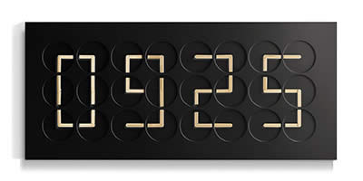 Humans since 1982 ClockClock 24 - Golden Hands - Black Edition