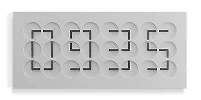 Humans since 1982 ClockClock 24 - Grey Edition