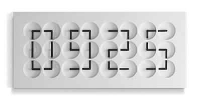 Humans since 1982 ClockClock 24 - White Edition