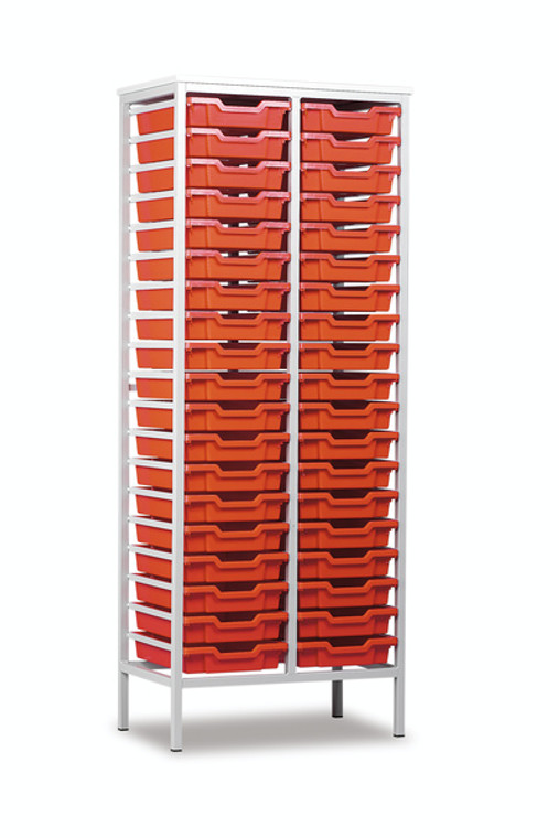 EF8027-M Monarch Metal Framed Storage Unit on Legs with 38 Shallow Trays