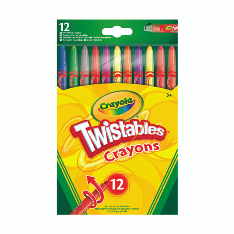 CRY3142 12 Crayola Twistable Coloured Pencils Pack 6 52-8530-E-000